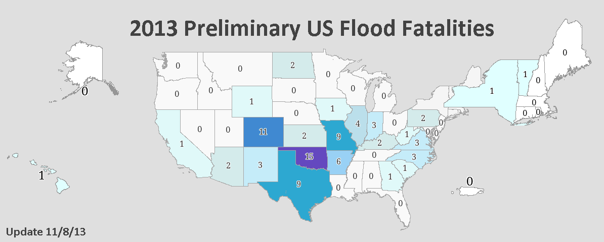 2013 Preliminary US Flood Fatalities